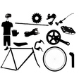 parts for bicycles vector image vector image