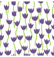 pattern with tulips vector image vector image
