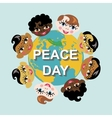 Peace dayEarth globechildren of various nation