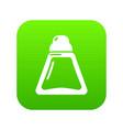 perfume bottle beauty icon green vector image vector image