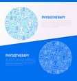 physiotherapy concept in circle vector image vector image