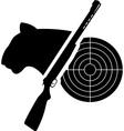 puma gun and target vector image vector image