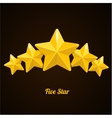 rating with five stars concept on black vector image vector image