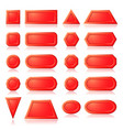 red buttons shapes vector image