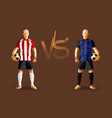 red stripes and blue stripes soccer players vector image vector image
