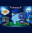 russia rostov on don stadium vector image vector image