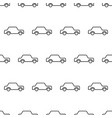 seamless pattern from icon car black contour on a vector image vector image