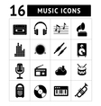 Set icons of music and sound vector image