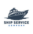 ship logo design vector image