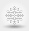 snowflake icon christmas and new year vector image vector image