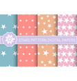 stars pattern holiday design set seamless vector image