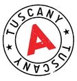 Tuscany stamp rubber grunge vector image vector image