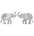 two decorated elephants vector image vector image