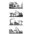 Various types of construction scenes vector image vector image