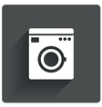 Washing machine icon Wash machine symbol vector image