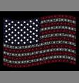 waving united states flag stylization of atom vector image vector image