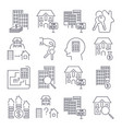 web icon set real estate property realtor keys vector image vector image