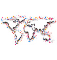 World map with confetti vector image