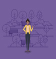 young businesswoman black on the park vector image vector image