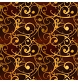Golden baroque swirls on red luxury seamless vector image