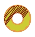 Donut icon isolated vector image