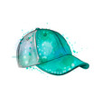 abstract baseball cap from a splash of watercolor vector image