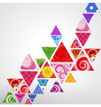 abstract ornamental triangle background vector image