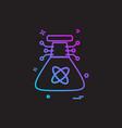 artificial beaker intelligence icon design vector image