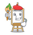 artist easel character cartoon style vector image