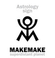 astrology planet makemake vector image vector image