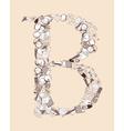 B School alphabet letter vector image