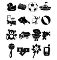 Baby toys icons set vector image