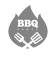 barbecue or grill party fire flame icon vector image vector image