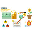 bitcoin infographic elements vector image vector image