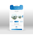 blue trip and travel ui ux gui screen for mobile vector image vector image