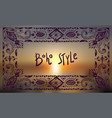 boho style graphic elements beautiful hand drawn vector image vector image