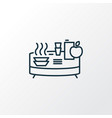 buffet icon line symbol premium quality isolated vector image