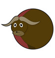 bull head sticker icons vector image vector image