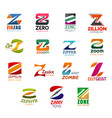 business design letter z icons vector image vector image