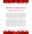 Christmas design with place for your text vector image
