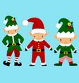 christmas elf christmas icon santa claus helper vector image