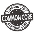 Common core grunge rubber stamp