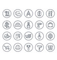 Construction and house renovation line icons