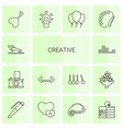 creative icons vector image vector image