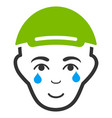crying man face icon vector image