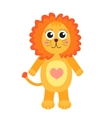 Cute cartoon character lion Children s toy lion vector image vector image