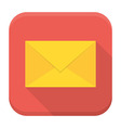 Envelope app icon with long shadow vector image vector image