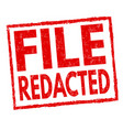 file redacted sign or stamp vector image
