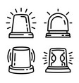 flasher icon set outline style vector image