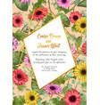 floral frame wedding invitation card greeting vector image